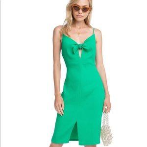 NWOT ASTR Emerald Syd Midi Dress
